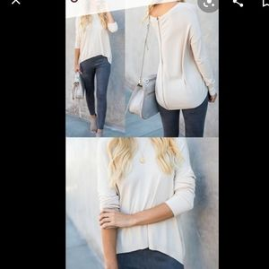 Vici *Gray* Full Back Zip Down Back Sweater small